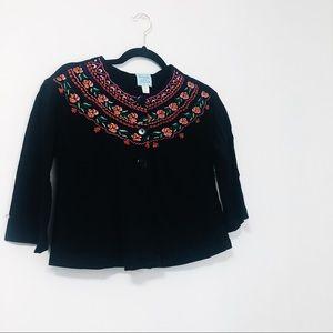 Anthropologie Kimchi & Blue Embroidered Cardigan